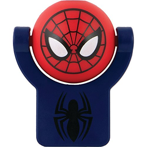 1 - Marvel(R) Superhero Projectable Night Light (Features Marvel's(R) Spider-Man(R)), Projects a 3ft image onto 8ft-12ft ceiling, Long-life LED-no bulbs to replace, Automatic shut off after 30min