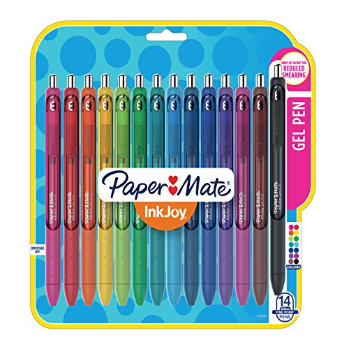 Papermate Inkjoy Gel Pens, Fine Point (0.5mm), Assorted Colors Gel Ink Rollerball Pen (1988991) by Paper Mate (Image #7)
