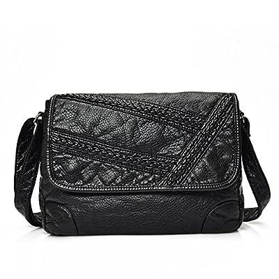 Mefly L'emballage Bag New Women's petite école lavé style sac à bandoulière en cuir style,deux