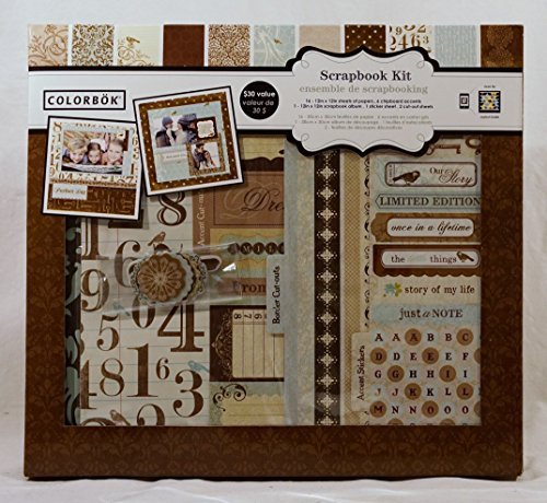 Colorbok Shabby Chic 12 inch x 12 inch Scrapbook Kit by Colorbok (Colorbok Scrapbook Kit)