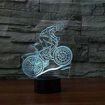 3D Lámpara,Led Bicicleta De Montaña Luz De Noche, Lámpara De ...