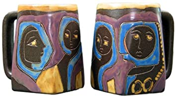 Amazon.com | Mara Ceramic Stoneware 12 Oz. Classic Mara Mug (Set of ...