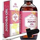 Leven Rose Organic 100% Pure Cold Pressed Unrefined Natural Jojoba Oil, 4 oz