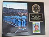 1989 Oakland A's World Series Champions Collectors Clock Plaque w/8x10 Photo and Card