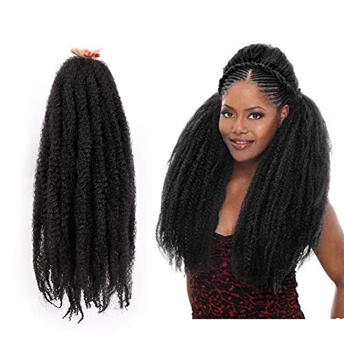 AISI BEAUTY Marley Braiding Hair Extension 3 Packs Marley Hair for Twists Afro Twist Braid Hair Synthetic Twist Crochet Hair Afro Kinky Hair Havana Braids (18