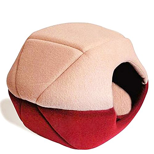 Cat Dog Cave Bed Washable Pet Bed Soft Pet House Tent and Cushion Mat Inside