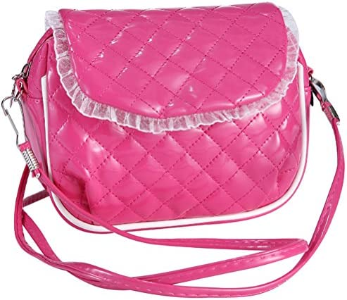 Elesa Miracle Little Girl Bag Kids Crossbody Purse Messenger Bag Party Handbag Shiny Bling Bling Pearl Flower Shoulder Bag
