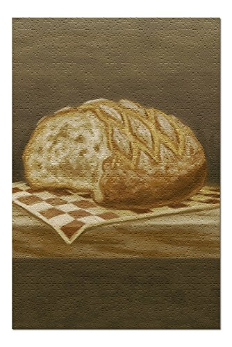 French Country Bread - Oil Painting (20x30 Premium 1000 Piece Jigsaw Puzzle, Made in USA!)