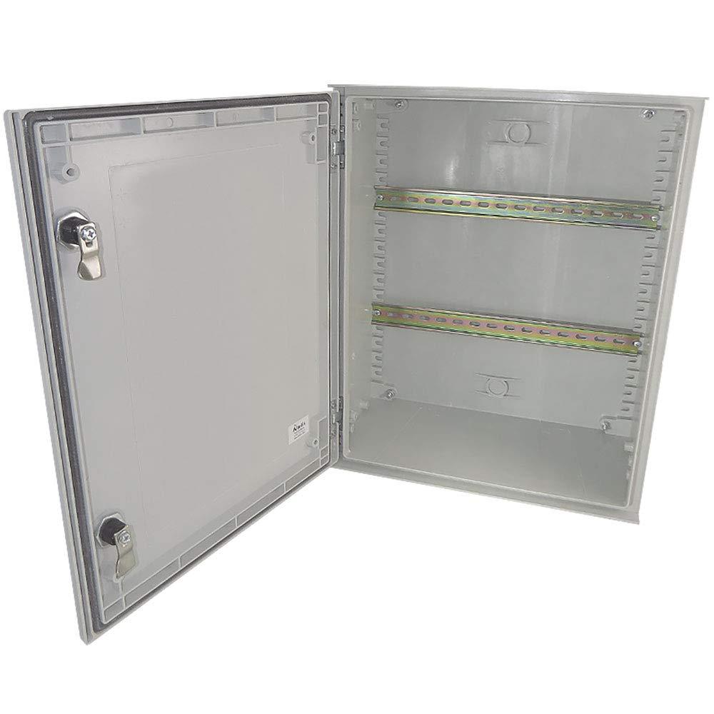 Altelix 20x16x8 Industrial DIN Rail FRP Fiberglass NEMA 3X Box Weatherproof Enclosure with Hinged Lid & Quarter-Turn Latches by Altelix (Image #1)
