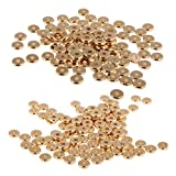 Jili Online 200 Pieces Solid Brass Spacer Beads Washer Beads Jewellery Making Crafts 8mm and 10mm
