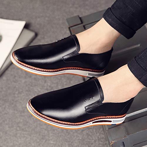 KMJBS Männer Schuhe Männer Lederschuhe Freizeit Geschäft Geschäft Geschäft Britische Schuhe Pfeilspitzen Weiche Nudeln. b06129