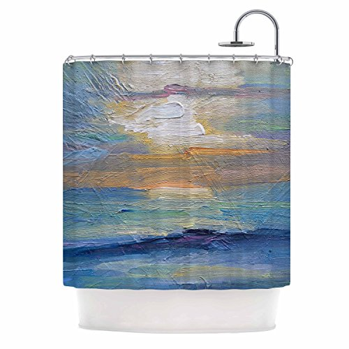 Kess InHouse Carol Schiff Ocean Sunset Blue Coastal Showe...