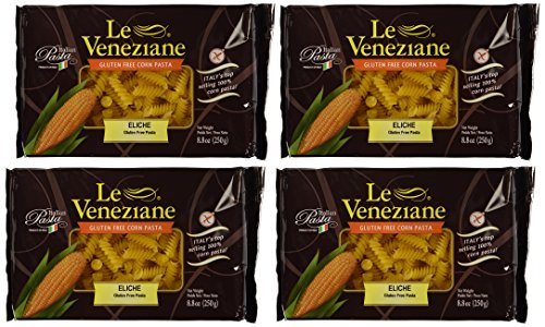 - Le Veneziane - Italian Fusilli (Eliche) Pasta [Gluten-Free], (4)- 8.8 oz. Pkgs