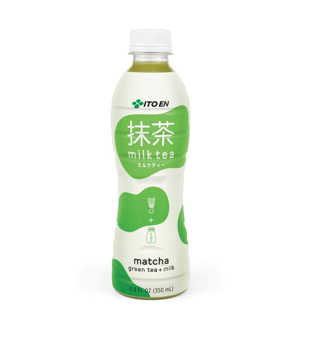 Ito En Matcha Green Tea + Milk Milk Tea 11.8 oz Plastic Bottles - Pack of 12