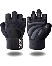 SIMARI Workout Gloves Weight Lifting Gym Gloves with Wrist Wrap Support for Men Women, Full Palm Protection, for Weightlifting, Training, Fitness,Exercise Hanging, Pull ups, Updated 2021 SG907