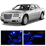 LEDpartsNOW Chrysler 300 2005-2010 Blue Premium LED Interior Lights Package Kit (7 Pieces)