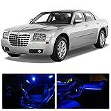LEDpartsNow Chrysler 300 2005-2010 Blue Premium LED Interior Lights Package Kit (12 Pieces)