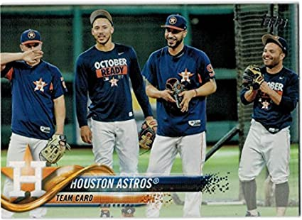 Astros Team >> Amazon Com 2018 Topps Series 1 2 Houston Astros Team Set