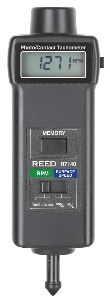 REED Instruments R7140 Combination Contact//Photo Tachometer