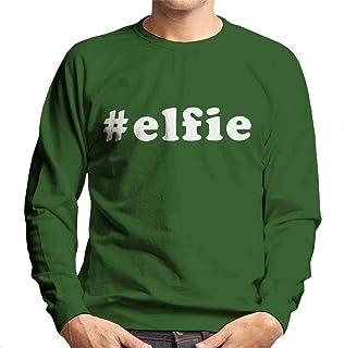 Coto7 Hashtag Elfie Christmas Men's Sweatshirt