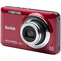 Kodak JKI-FZ51-RD Digital Camera with 16 Megapixels and 5x Optical Zoom (Red)