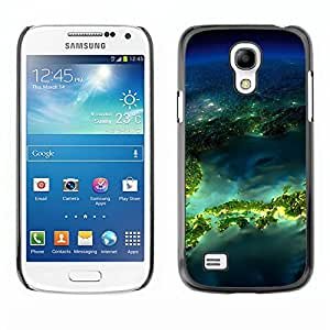 TopCaseStore / la caja del caucho duro de la cubierta de protección de la piel - Island Planet Earth Space - Samsung Galaxy S4 Mini i9190 MINI VERSION!