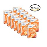 PACK OF 13 -Plum Organics Tots Teensy Fruits Soft Real Fruit Snacks Peach 5-0.35 oz. Packs