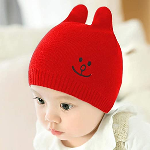 Myzixuan Caída de Sombreros Gorras Punto bebé fetales Gorras de ...
