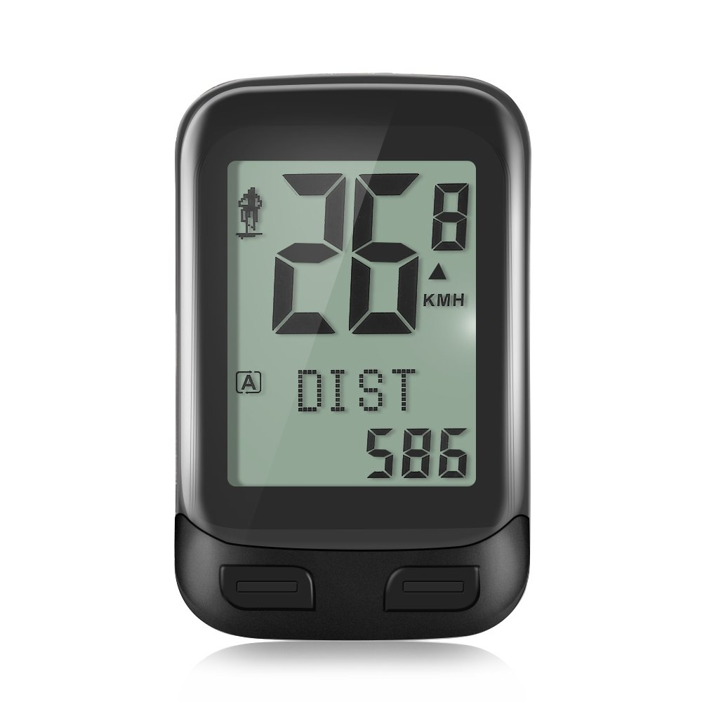 X-CAT Wireless Bike Computer, NACATIN Multi-Function Waterproof 2.4GHz Transmission Bicycle Speedometer with Large LCD Display, Built-In 3D Sensor, Distance/Time/Calories/Temperature Tracking by X-CAT