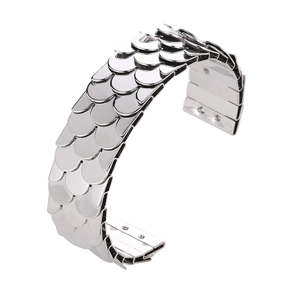 Everrikle Bracelet Bangle Jewelry,Fashion Women Fish Scales Sequins Open Ended Wrist Bangle Bracelet Jewelry Gift