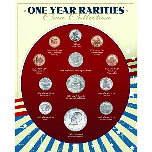 One Year Rarities Coin Collection| Genuine United States Minted Coins | Americana Collectible | Certificate of Authenticity - American Coin Treasures