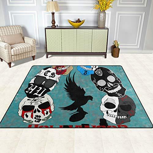 Hollywood De Antidérapant 48 Tapis Intérieur Motif Inch Home extérieur Crânes Dec D'entrée D'entrée X Polyester Morts Chaussures 1 motifs Grattoir Porte Multi 63 Avec Fajro f8gaEfq