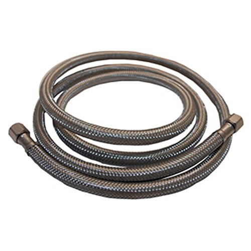 LASCO 10-0958 20-Foot Ice Maker Water Supply Line, Braided Stainless Steel, 1/4-Inch Female Compression X 1/4-Inch Female Compression (Maker Steel Stainless Hose Ice)