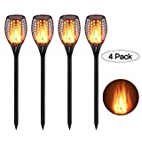 CINOTON Solar Light,Path Torches Dancing Flame Lighting 96 LED Dusk to Dawn Flickering Outdoor Waterproof garden decorations (4) For Sale