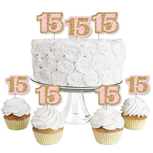 Mis Quince Anos - Dessert Cupcake Toppers -