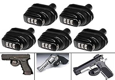 Ultimate Arms Gear Pack Of 5 Number Combination Secure Steel & Zinc Bodied Universal Firearm Guns Handguns Pistols Revolvers Shotguns Rifles Protective Lock Safety Trigger Block Locks