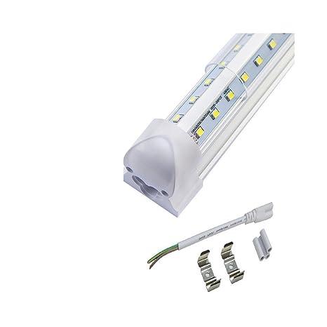Toika【20 tubos LED T8 integrados en forma de V de 240 cm y 80 ...