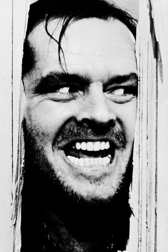 Jack Nicholson In The Shining 24X36 Movie Poster iconic 'Here's Johnny' Silverscreen