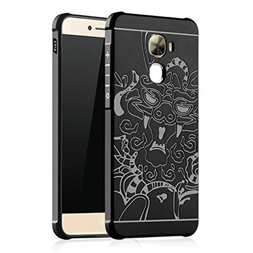 LeTV LeEco Le Pro 3 Case, LWGON Shockproof Silicone Protective Case for LeTV LeEco Le Pro 3 Dragon 3d Design Cases (3d black)
