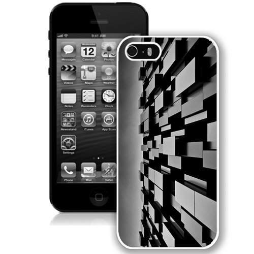 Coque,Fashion Coque iphone 5S 3D Abstract Art Desktop2 blanc Screen Cover Case Cover Fashion and Hot Sale Design