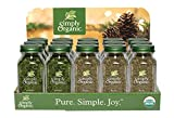 Simply Organic Food Flavor Savory Holiday Countertop Display 15 Count.
