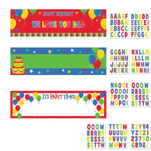 Balloon Fun Customized Giant Sign Banners Kit Party Accessory ()