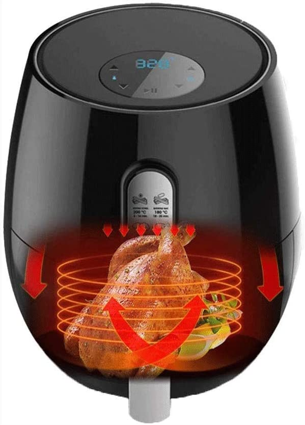 Air Fryers for Home Use Air Fryer 4.2Qt / 5.2 Liter 1400 Watt Electric XL Air Fryer Oil Free Oven Non-Stick Pan with Other AccessoriesRecipesNon-Slip FeetDetachable Fry Basket MZXDX