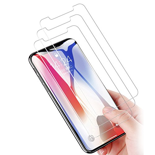 iPhone X Screen Protector, NOKEA Tempered Glass with [9H Hardness] [Crystal Clear] [Easy Bubble-Free Installation] [Scratch Resist] for iPhone X / iPhone 10 (3 - Matt 30l