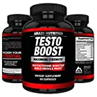 TESTOBOOST Test Booster Supplement | Potent & Natural Herbal Pills | Boost Muscle