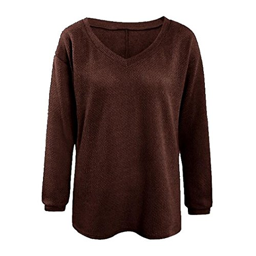 Top Pull Cardigans Casual Casual Femmes Elegant Longue Chandail Chic Tricot Sweatshirt Sweater Mi gqUw47n
