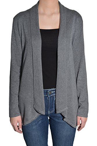 Fever Fly Away Open Cardigan (Heather Gray, XX-Large)