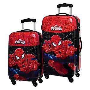 Marvel Set de Maletas Spiderman, 55/67 cm, 86 Litros, Rojo