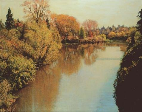 The High Quality Polyster Canvas Of Oil Painting 'Wang Lu,River,2006' ,size: 10x13 Inch / 25x32 Cm ,this Cheap But High Quality Art Decorative Art Decorative Prints On Canvas Is Fit For Home Theater Artwork And Home Artwork And Gifts