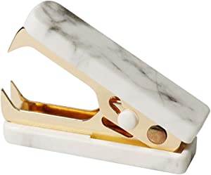 MultiBey Marble Mini Staple Removers Gold Steel Jaws Office Stationery Desk Accessories Gift (Gold, 1pc)